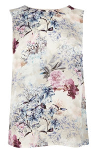 WINTER FLORAL PRINT SHELL
