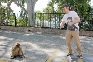 Tom with a Monkey