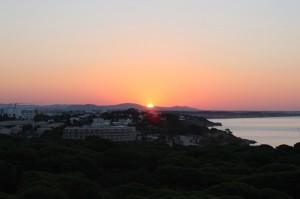 Sunrise from our Room at Aqua Pedra Dos Bicos