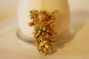 Gold Pine Cone Angel 10
