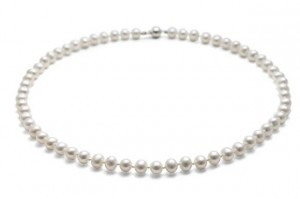 Jersey Pearl medium White Pearl Necklace