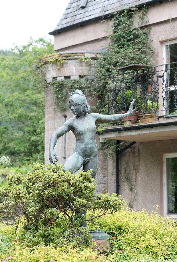 Aigas House Garden Statue