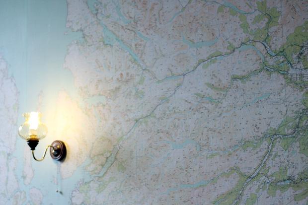 Aigas House Map Wallpaper