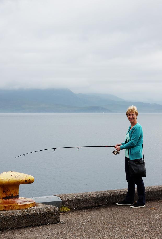 Fishing at Armadale Pier, Isle of Skye