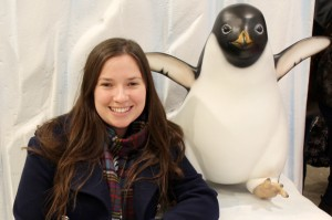 Meeting Monty the Penguin at John Lewis