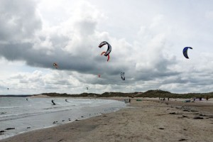 Kit Surfing, Beadnell Bay, Northumberland