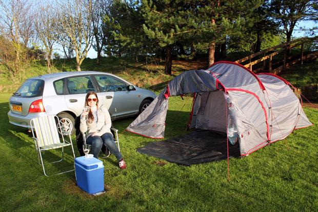 Camping at Budle Bay