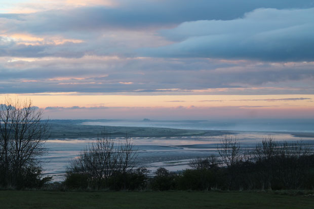Sunset Over Holy Island, Northumberland