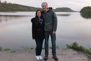 Me and John, Loch Fad, Isle of Bute