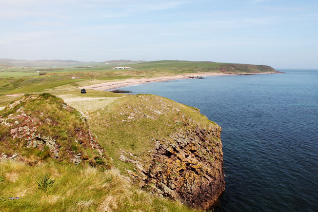 View from Dunaverty Rock, Southend, Mull of Kintyre