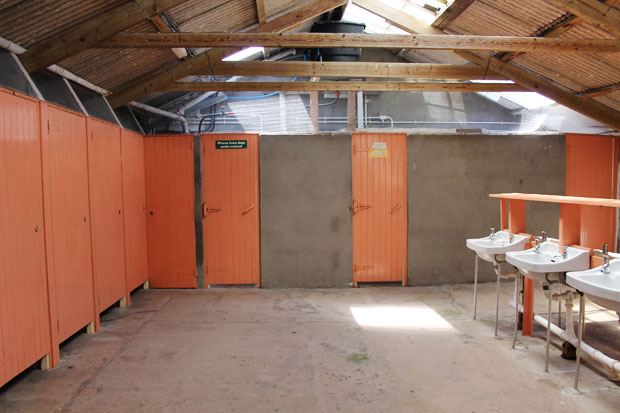 Toilets at the Campsite