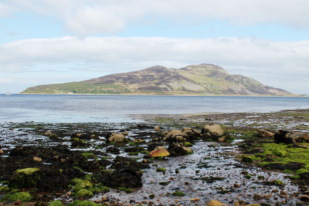 Island off the Isle of Arran