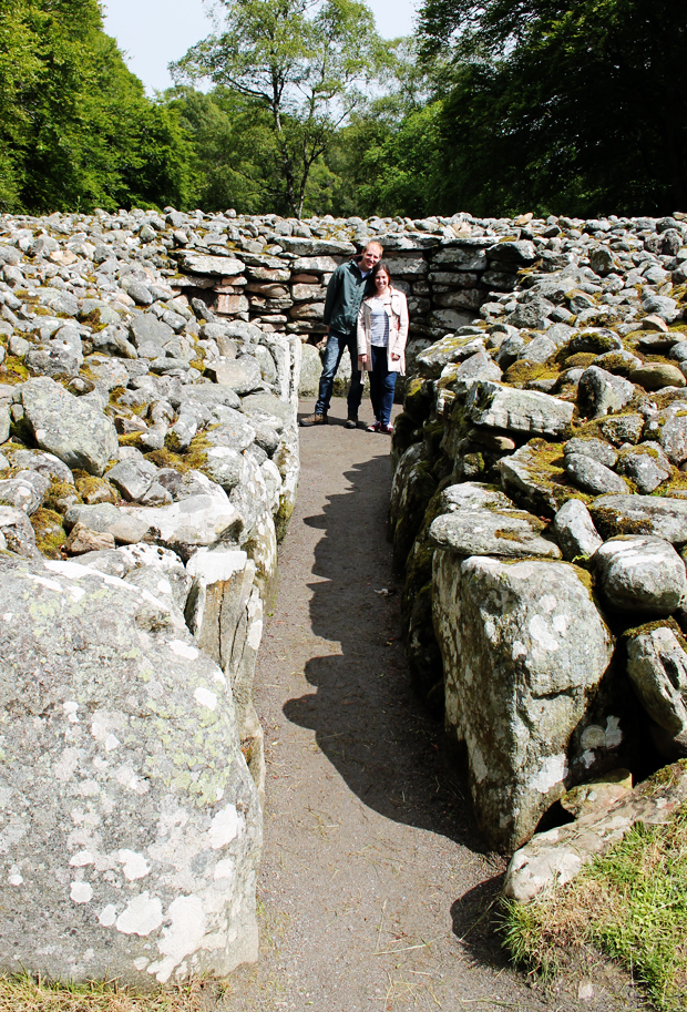 John and I at Clava Cairns