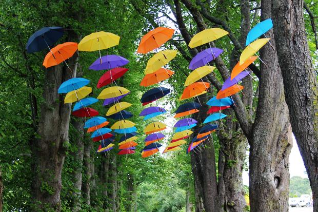 Belladrum Tartan Heart Festival Umbrella Installation