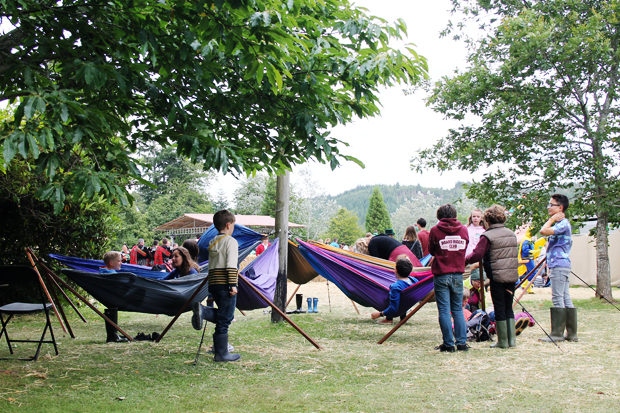 Hammocks at Belladrum Tartan Heart Festival