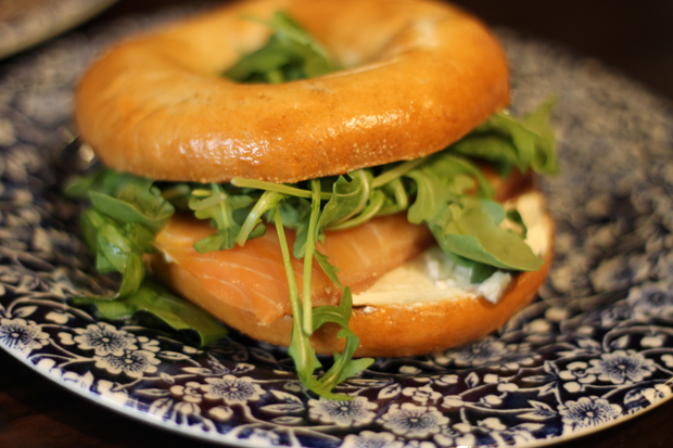 Salmon and Cream Cheese Bagel at Wetherspoons, Metrocentre