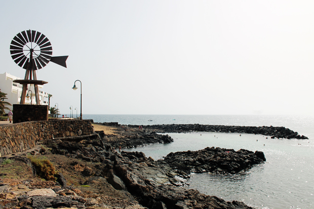 Snorkelling Cove and Windmill, Lanzarote