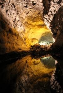 Reflection at Cueva de los Verdes, The Green Caves, Lanzarote