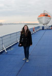 Onboard DFDS Princess Seaways