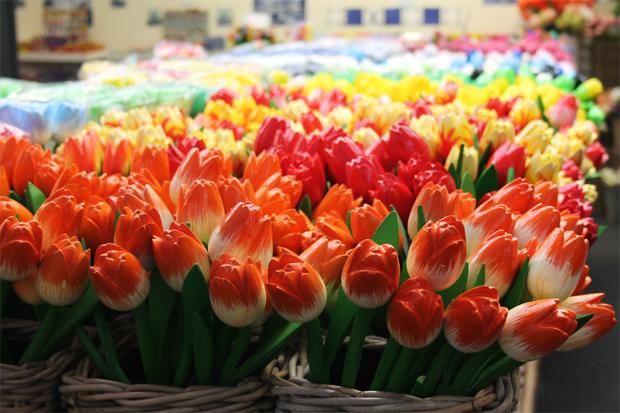 Wooden Tulips, Flower Market, Amsterdam