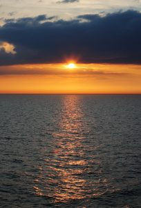 Sunset from DFDS Princess Seaways 4
