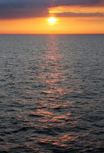 Sunset from DFDS Princess Seaways 5