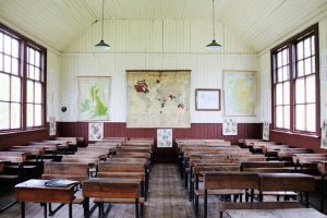 Old School House Inside, Highland Folk Museum