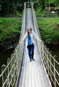 Suspension Bridge, Caer Beris Manor, Builth Wells, Wales