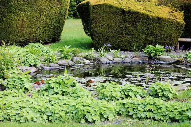 Pond, Caer Beris Manor, Builth Wells, Wales