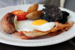 Welsh Breakfast, Caer Beris Manor, Builth Wells, Wales