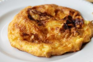 Cheese Omelette, Breakfast, Caer Beris Manor, Builth Wells, Wales