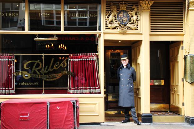 Rules Restaurant, Covent Garden, London Exterior
