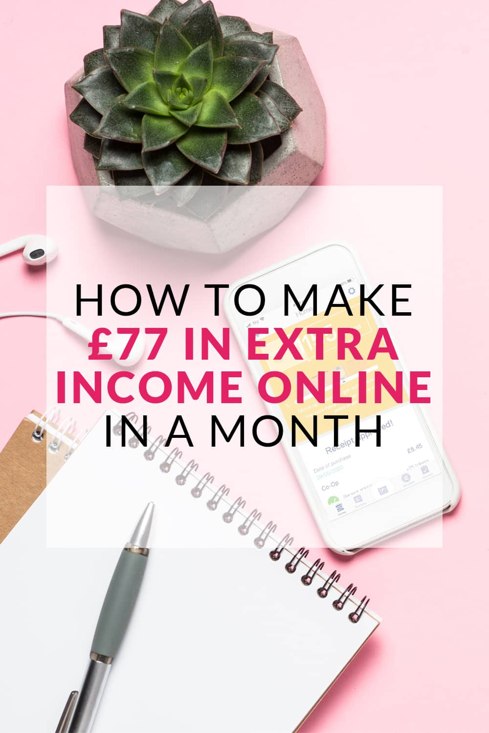 How to Make £77 in Extra Income Online In a Month